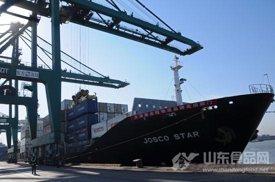 天津港全程物流品牌率先走出国门